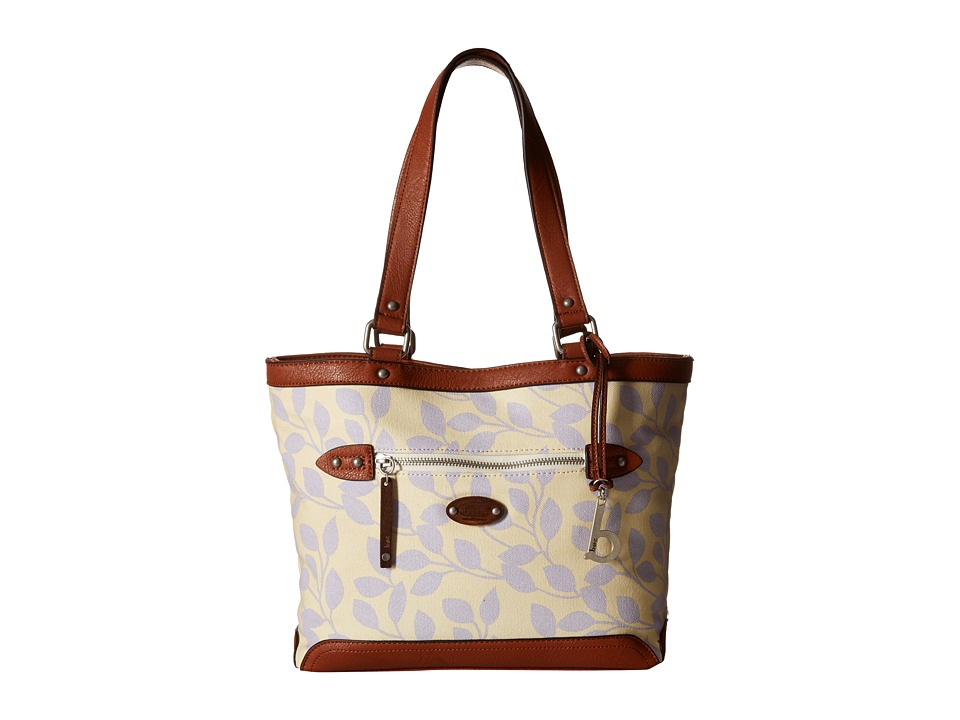 b.o.c. - Santa Barbara Tote (Purple Leaves) Tote Handbags
