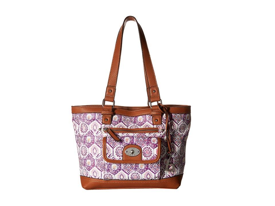 b.o.c. - Rosebank Tote Mosaic (Purple) Tote Handbags
