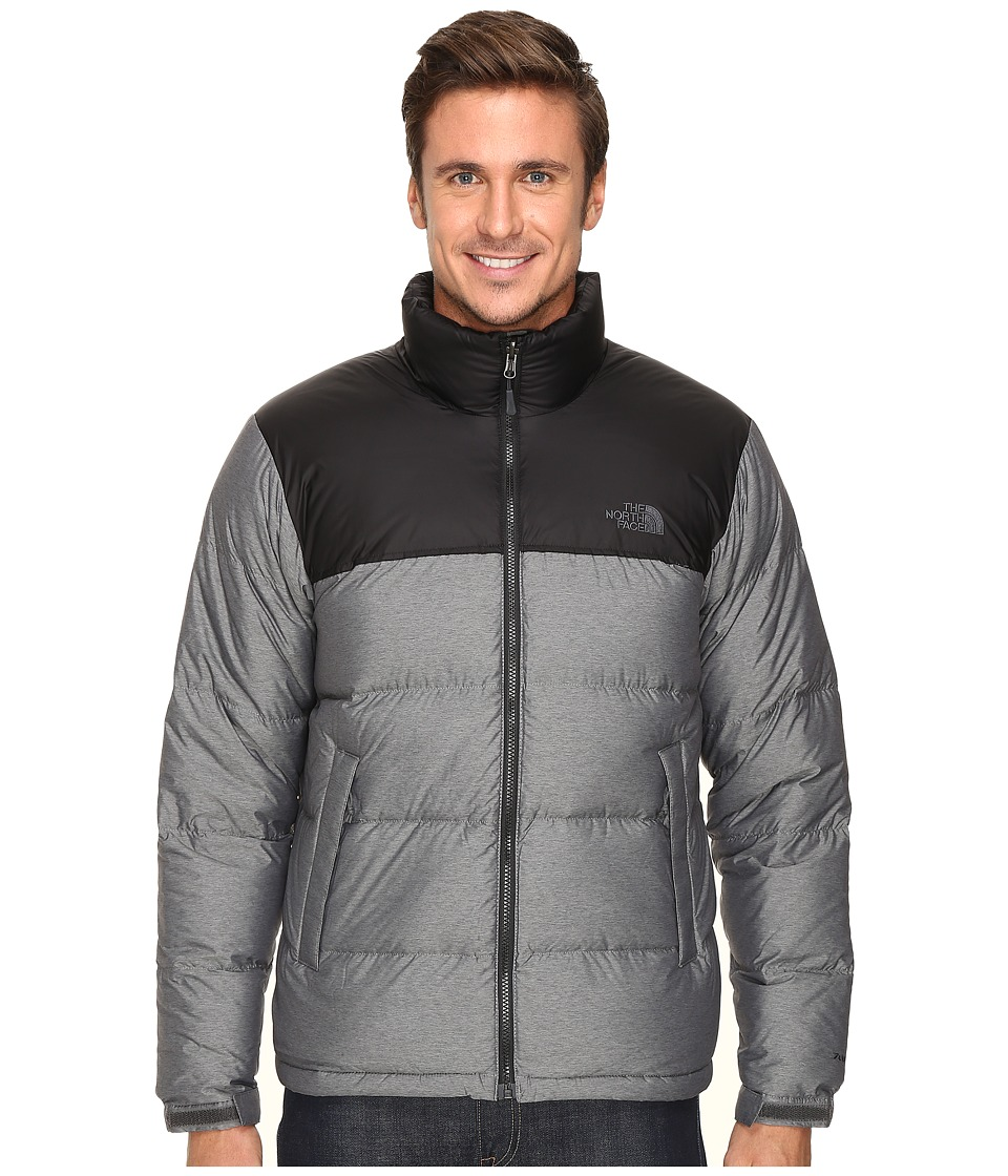 The North Face - Nuptse Jacket (TNF Medium Grey Heather/TNF Black) Men's Coat