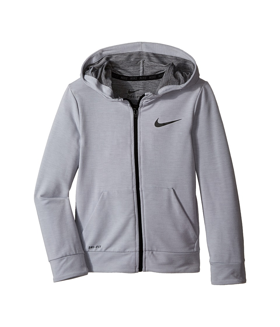 Nike Kids - Training Fleece Hoodie (Little Kids) (Wolf Gray Heather) Boy's Sweatshirt
