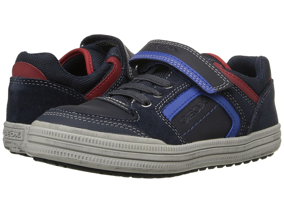 Geox Kids - Jr Elvis 30 (Little Kid/Big Kid) (Navy/Royal) Boy's Shoes