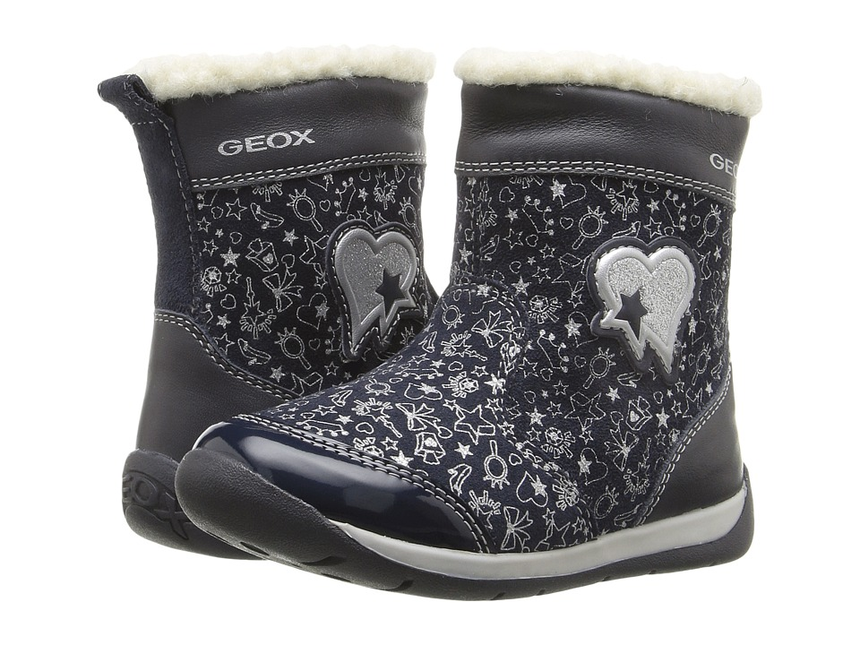 Geox Kids - Baby Each Girl 8 (Infant/Toddler) (Navy) Girl's Shoes