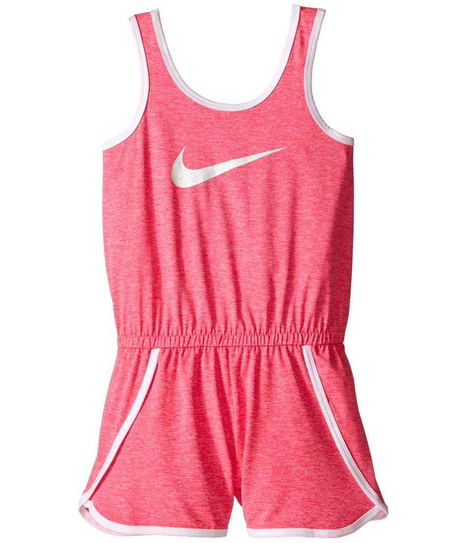 Nike Kids - Dri-FIT Sport Essential Fashion Romper (Little Kids) (Hyper Pink Heather) Girl's Jumpsuit & Rompers One Piece