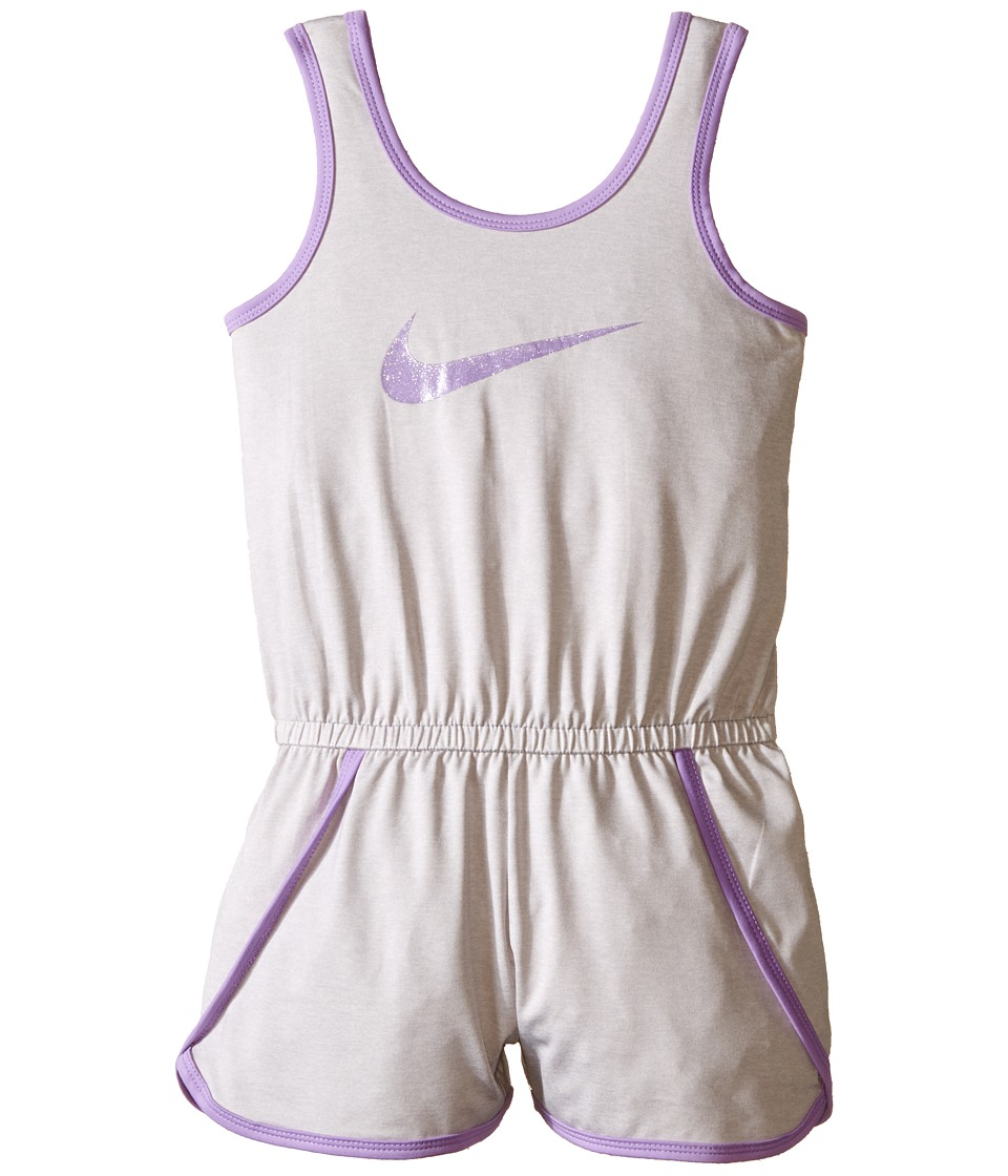 Nike Kids - Dri-FIT Sport Essential Fashion Romper (Little Kids) (Wolf Grey) Girl's Jumpsuit & Rompers One Piece