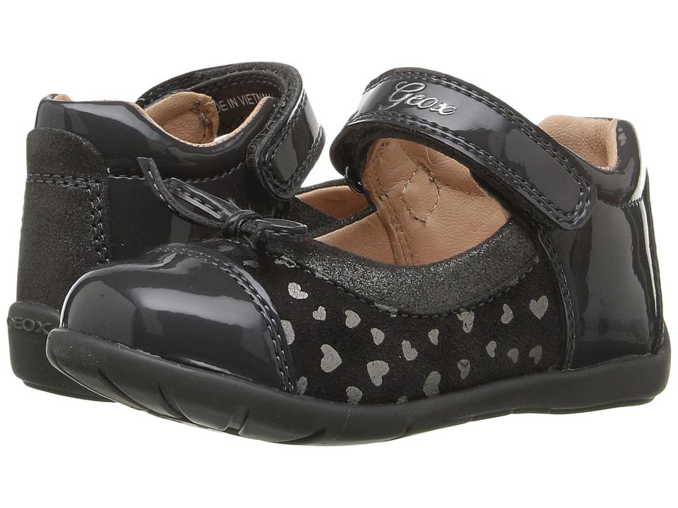 Geox Kids - Baby Kaytan Girl 28 (Infant/Toddler) (Dark Grey) Girl's Shoes