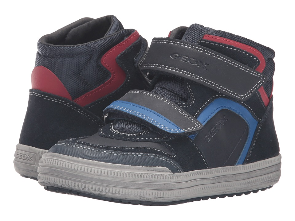 Geox Kids - Jr Elvis 32 (Little Kid/Big Kid) (Navy/Royal) Boy's Shoes