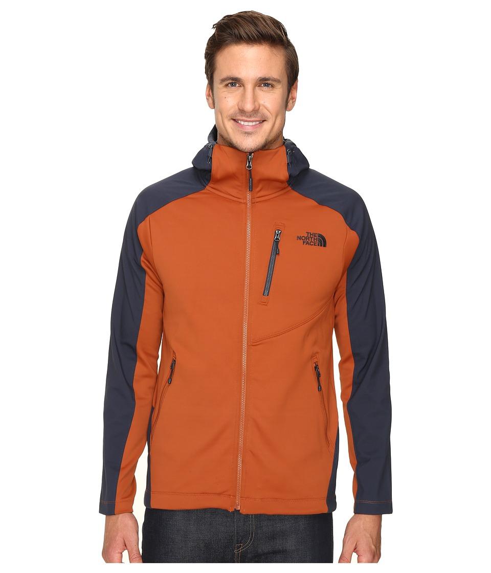 The North Face - Tenacious Hybrid Hoodie (Gingerbread Brown/Urban Navy) Men's Sweatshirt
