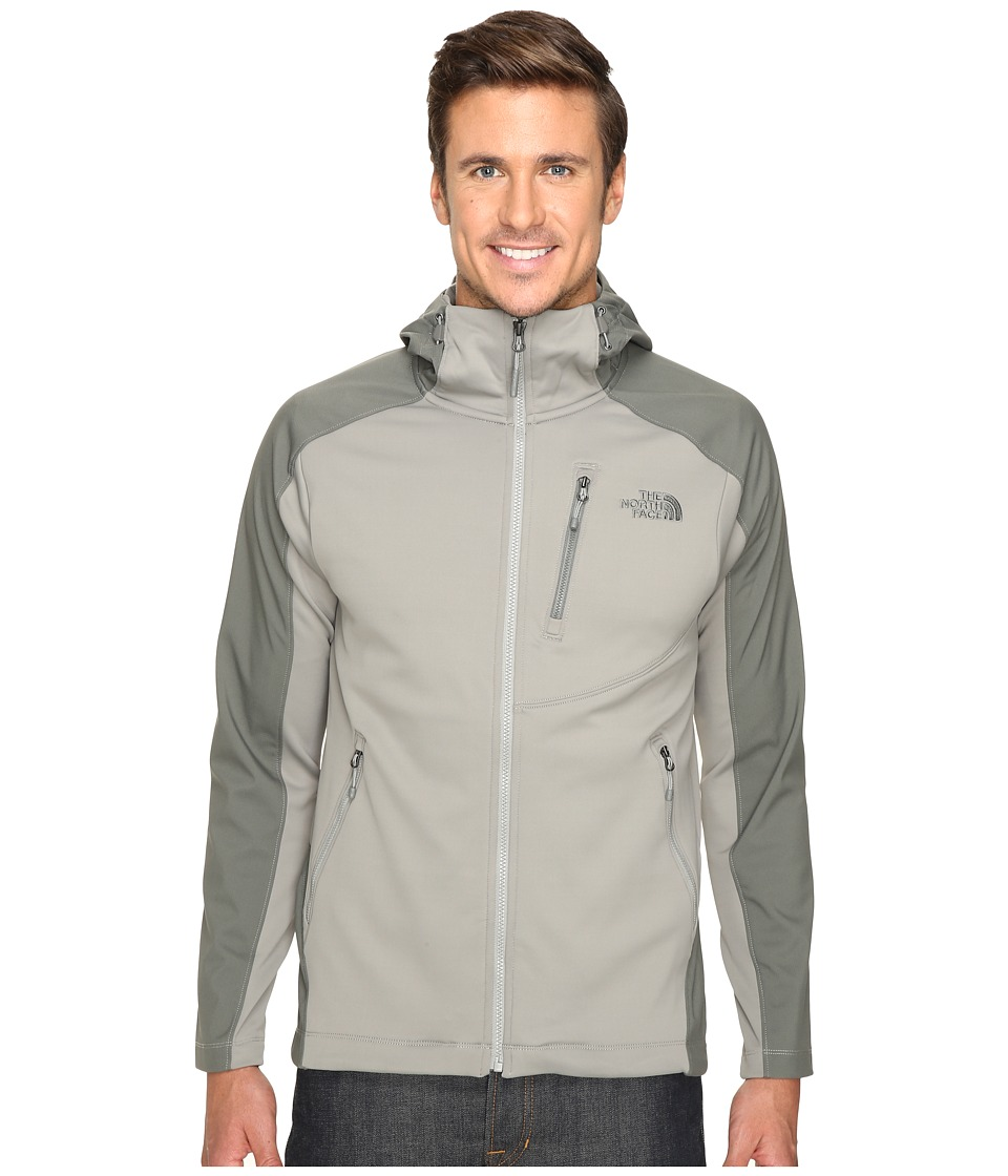 The North Face - Tenacious Hybrid Hoodie (Moon Mist Grey/Fusebox Grey) Men's Sweatshirt