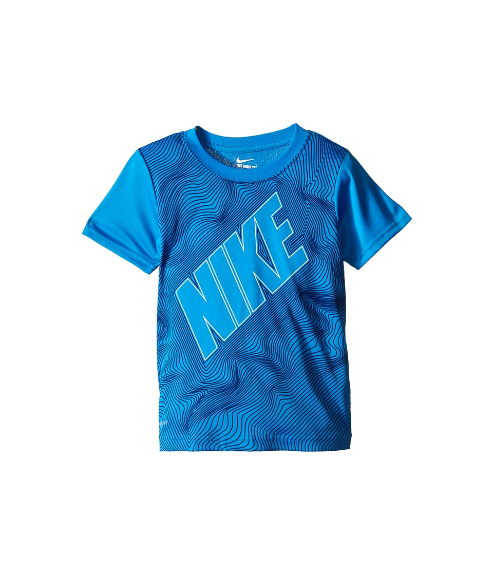 Nike Kids - Contour Dri-FIT Graphic Shirt (Little Kids) (Photo Blue) Boy's Clothing