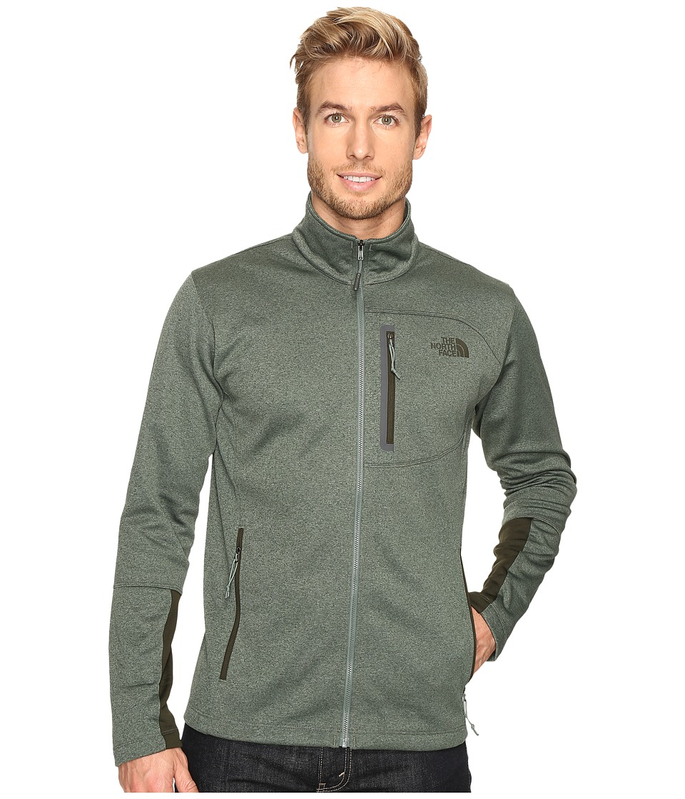 The North Face - Canyonlands Full Zip Sweatshirt (Duck Green Heather) Men's Coat