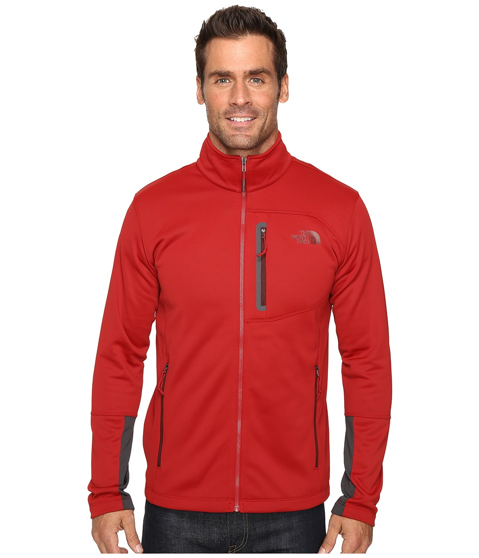 The North Face - Canyonlands Full Zip Sweatshirt (Cardinal Red (Prior Season)) Men's Coat