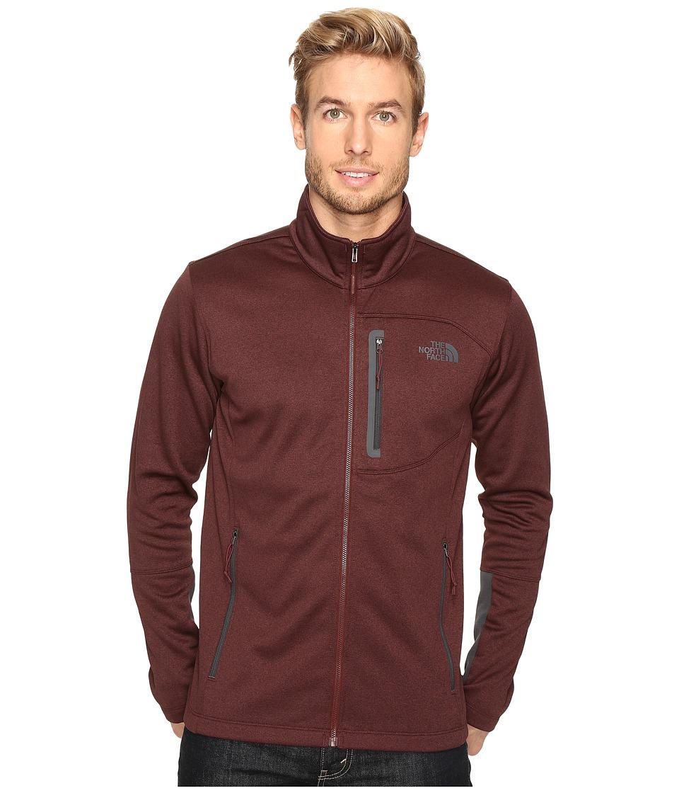 The North Face - Canyonlands Full Zip Sweatshirt (Sequoia Red Heather/Asphalt Grey) Men's Coat