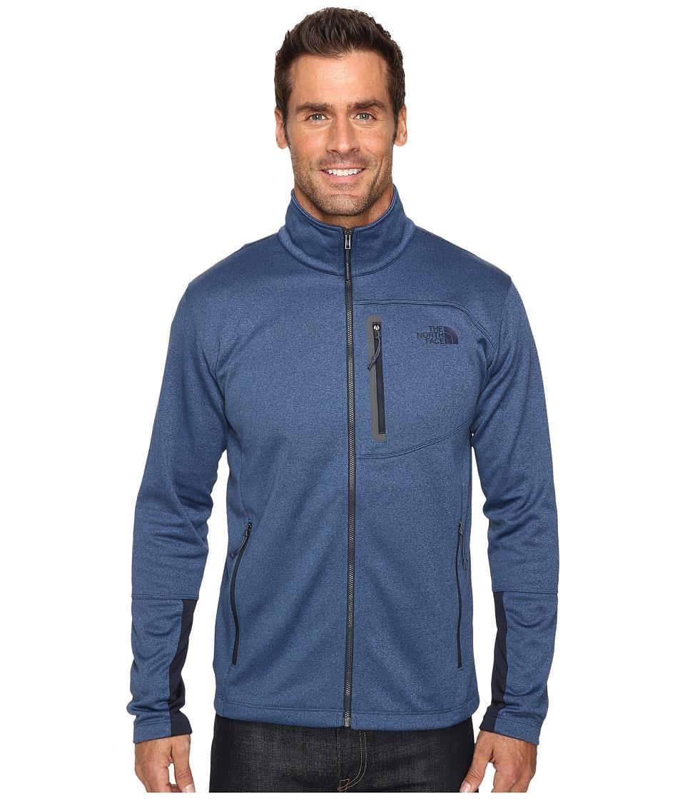 The North Face - Canyonlands Full Zip Sweatshirt (Shady Blue Heather) Men's Coat