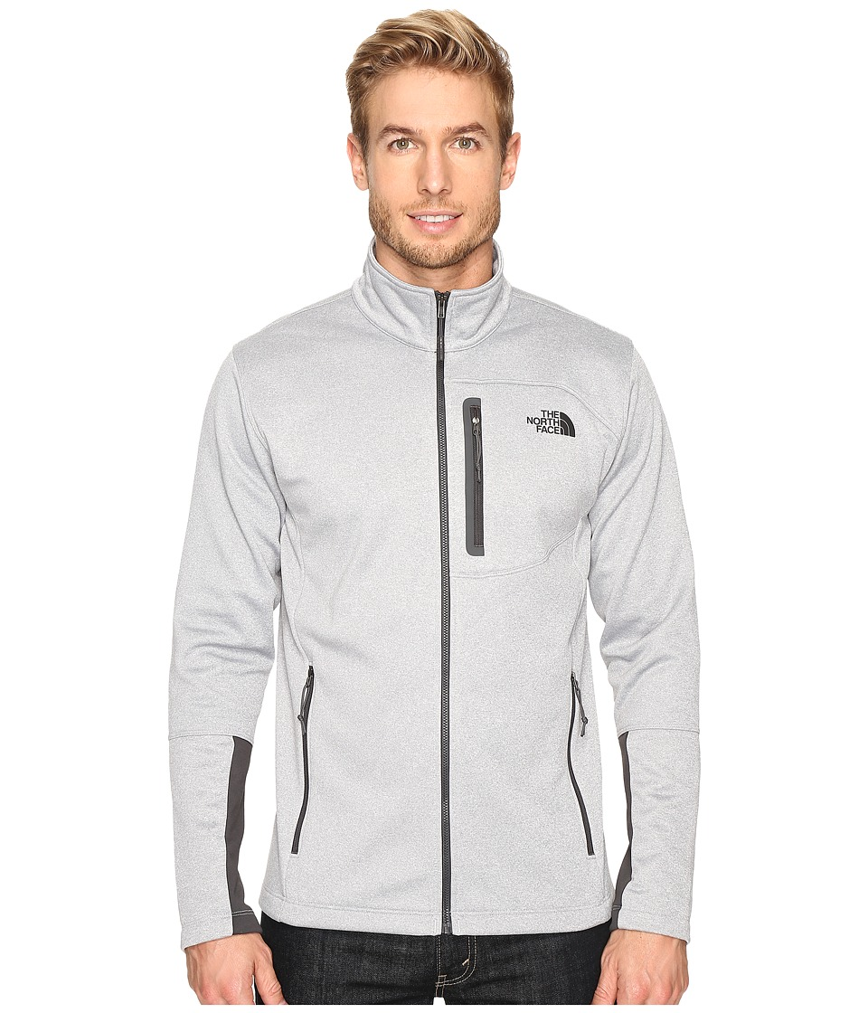 The North Face - Canyonlands Full Zip Sweatshirt (TNF Light Grey Heather) Men's Coat
