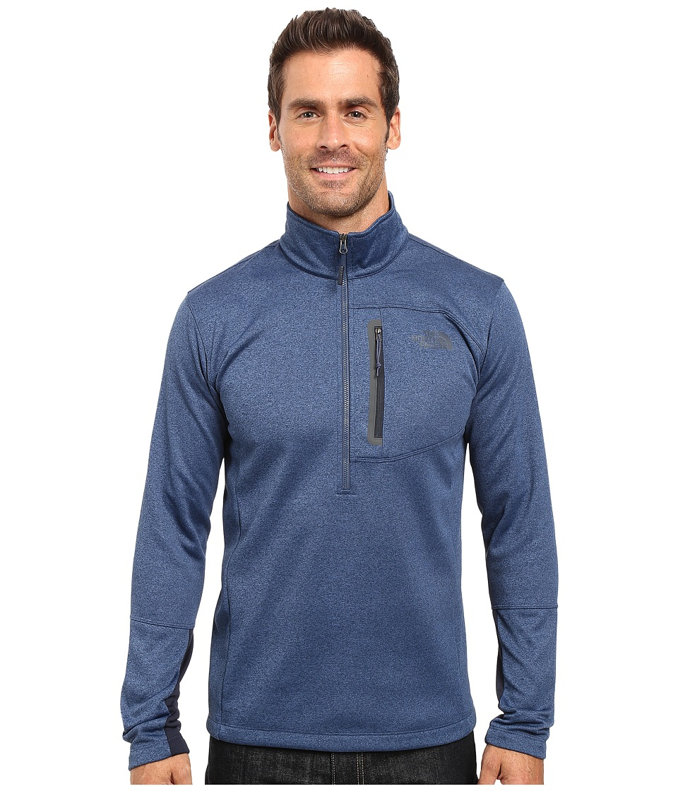 The North Face - Canyonlands 1/2 Zip Pullover (Shady Blue Heather) Men's Sweatshirt