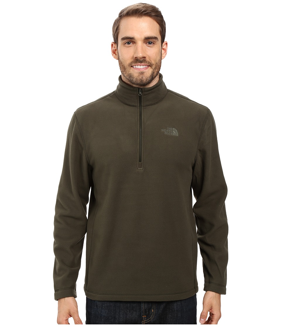 The North Face - TKA 100 Glacier 1/4 Zip (Rosin Green) Men's Sweatshirt