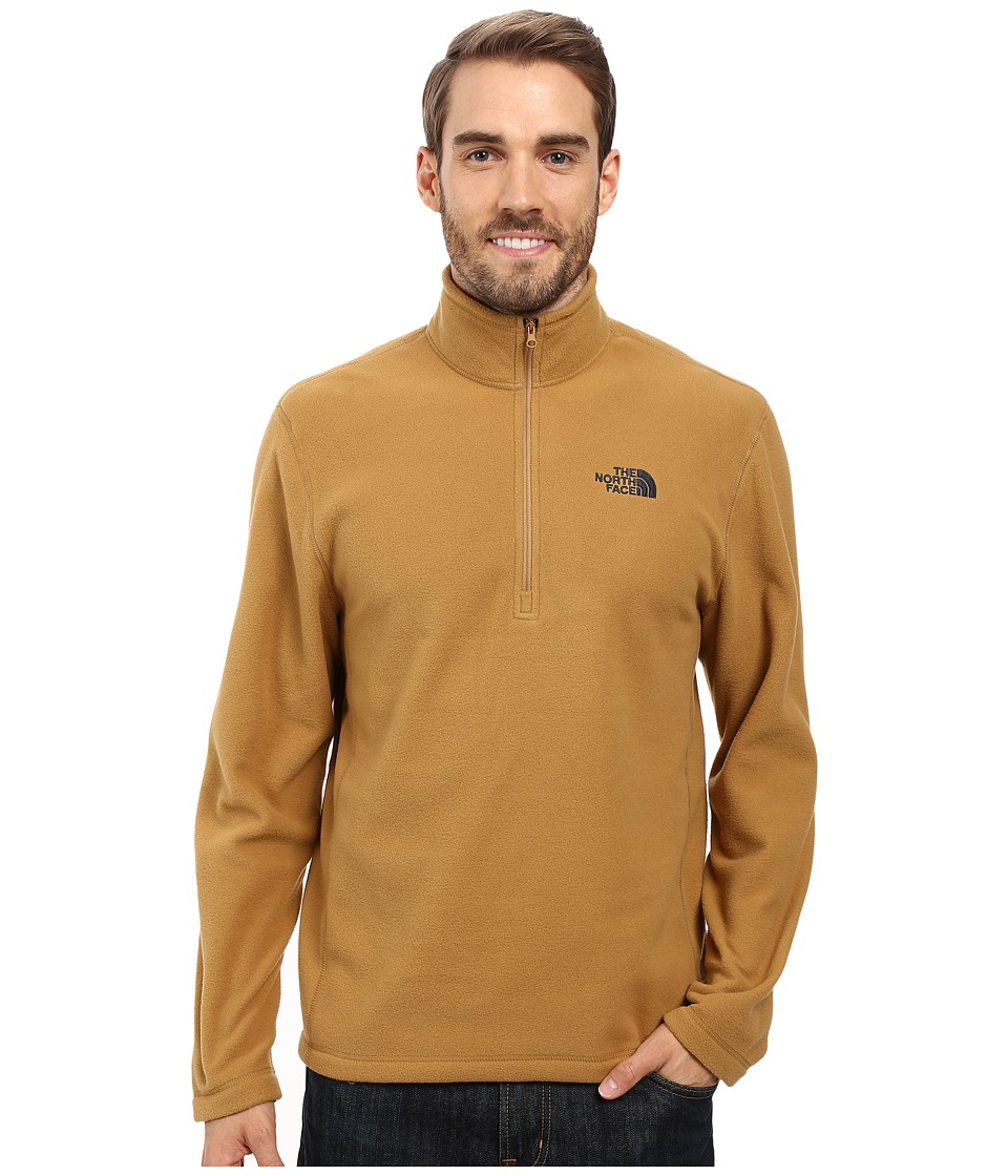 The North Face - TKA 100 Glacier 1/4 Zip (Dijon Brown) Men's Sweatshirt