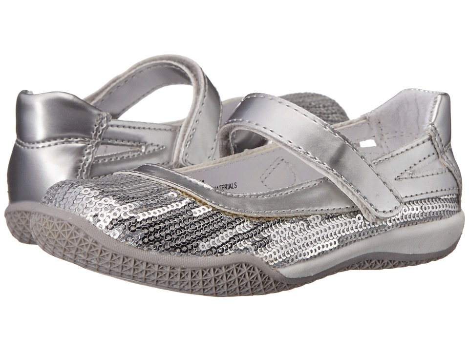 W6YZ Kathy (Toddler/Little Kid) (Silver) Girls Shoes