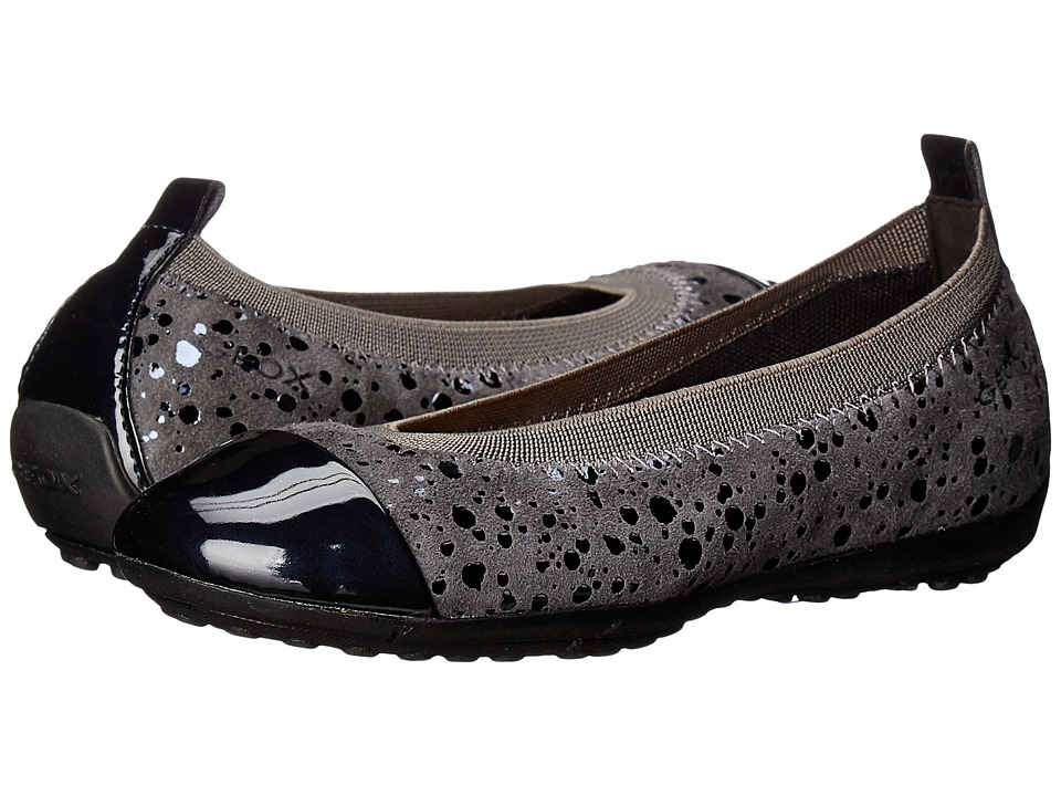 Geox Kids - Jr Piuma 53 (Toddler/Little Kid) (Dark Grey) Girl's Shoes