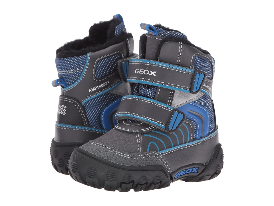 Geox Kids - Baby Gulp B Boy ABX 6 Waterproof (Toddler) (Dark Grey/Royal) Boy's Shoes