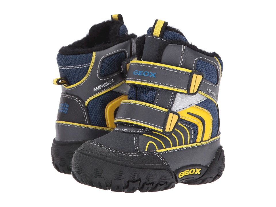 Geox Kids - Baby Gulp B Boy ABX 6 Waterproof (Toddler) (Navy/Yellow) Boy's Shoes