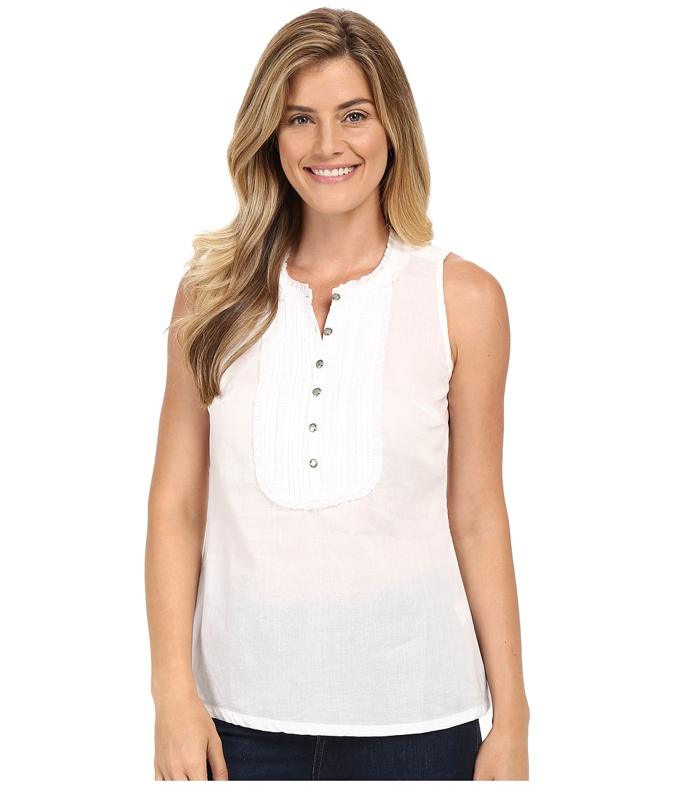 Stetson - White Voile Sleeveless Western Shirt (White) Women's Sleeveless