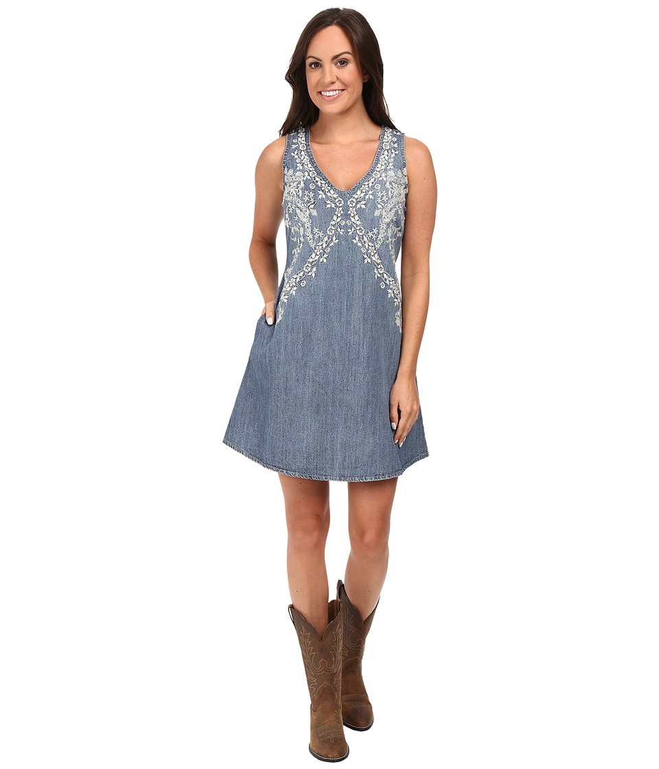 Stetson - 6 Oz Denim Sleeveless Dress (Blue) Women's Dress
