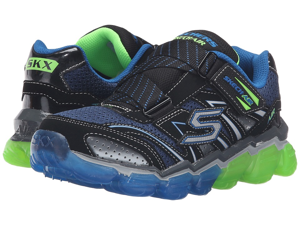 SKECHERS KIDS - Skech Air 95107L (Little Kid/Big Kid) (Black/Blue/Lime) Boy's Shoes