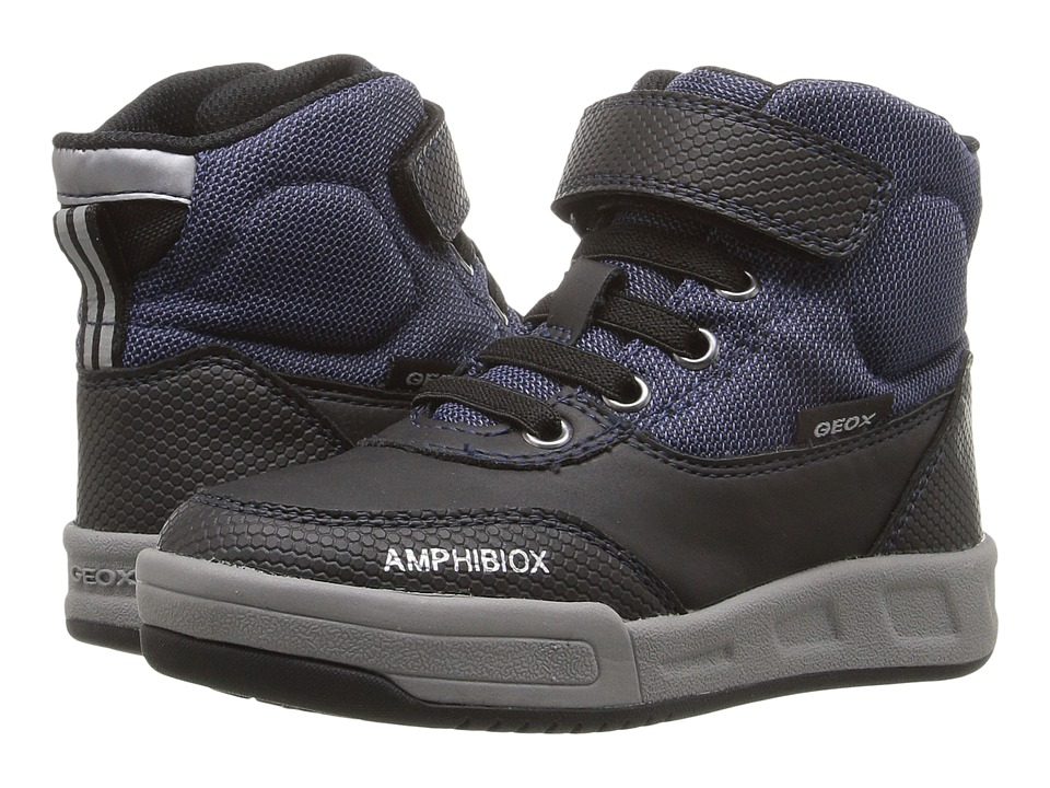 Geox Kids - Jr Rolk B Boy ABX 1 Waterproof (Toddler/Little Kid) (Navy/Black) Boy's Shoes