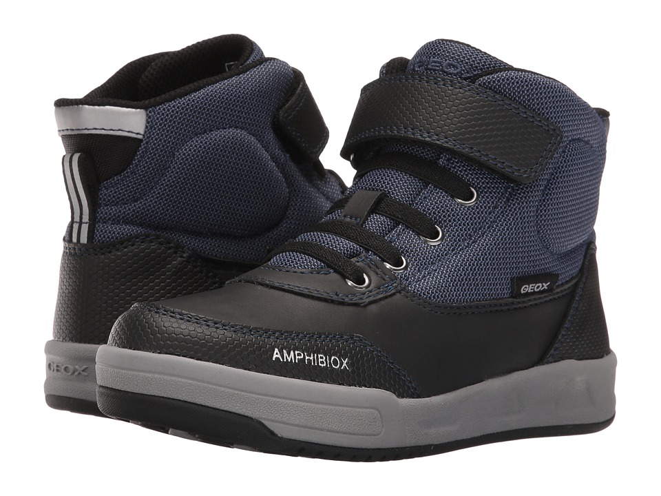 Geox Kids - Jr Rolk B Boy ABX 1 Waterproof (Little Kid/Big Kid) (Navy/Black) Boy's Shoes