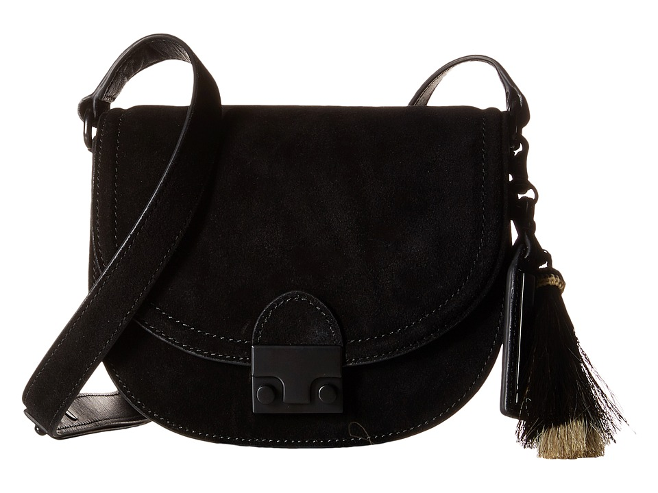 Loeffler Randall - Saddle (Black/Black Natural) Handbags