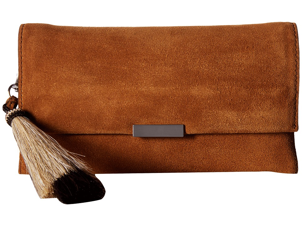 Loeffler Randall - Tab Clutch (Sienna/Natural Black) Clutch Handbags