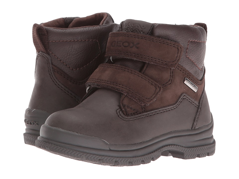 Geox Kids - Jr William B ABX 5 Waterproof (Toddler/Little Kid) (Coffee/Dark Brown) Boy's Shoes