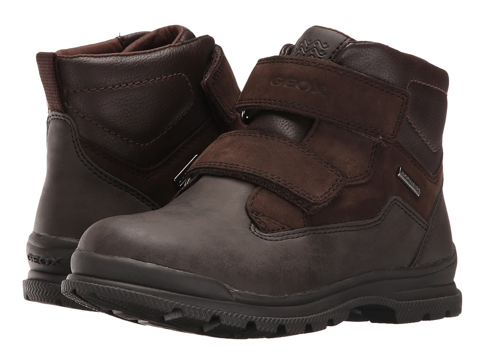 Geox Kids - Jr William B ABX 5 Waterproof (Little Kid/Big Kid) (Coffee/Dark Brown) Boy's Shoes