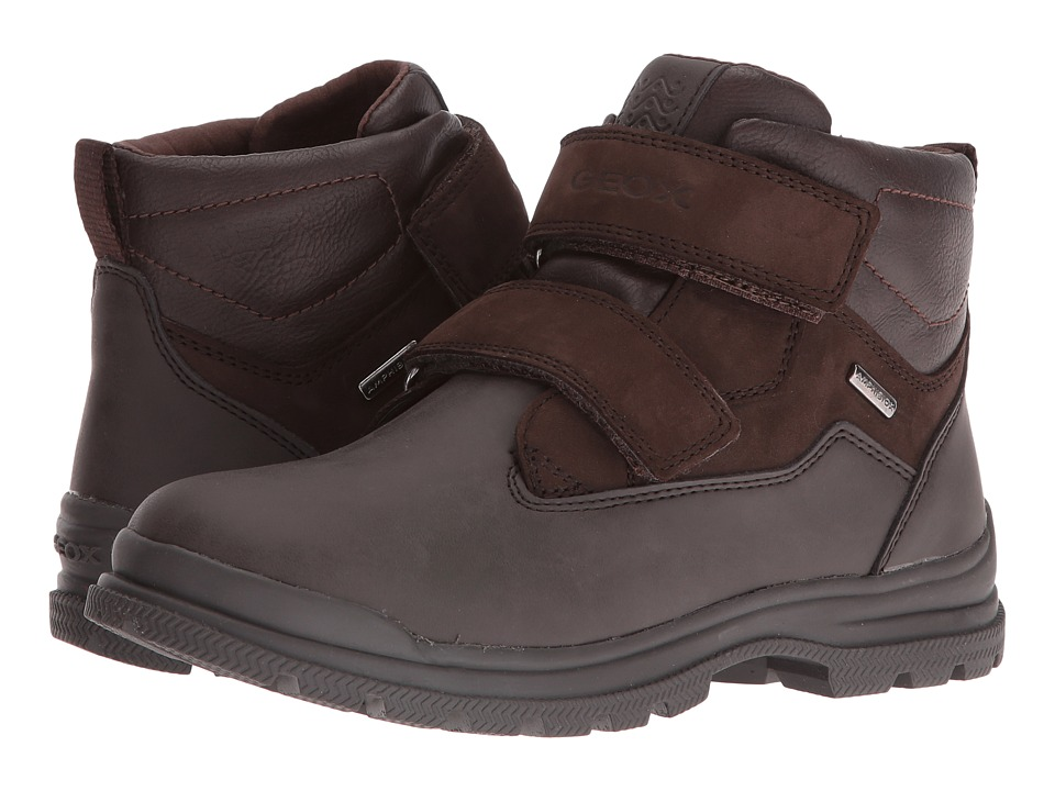 Geox Kids - Jr William B ABX 5 Waterproof (Big Kid) (Coffee/Dark Brown) Boy's Shoes