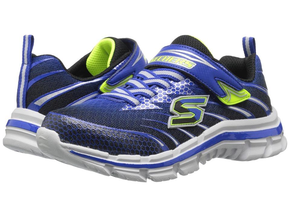 SKECHERS KIDS - Nitrate - Pulsar 95346L (Little Kid/Big Kid) (Royal/Black) Boy's Shoes