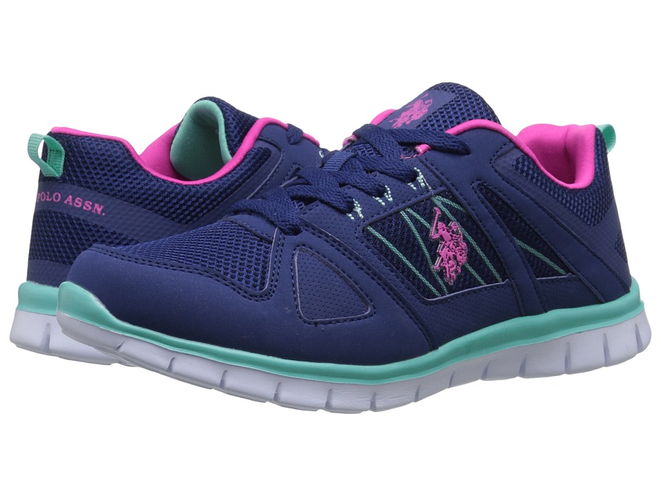 U.S. POLO ASSN. - Carol (Navy/Fuchsia/Mint) Women's Shoes