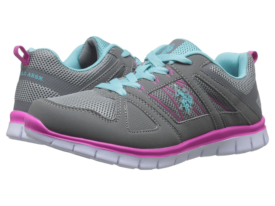 U.S. POLO ASSN. - Carol (Grey/Mint/Fuchsia) Women's Shoes