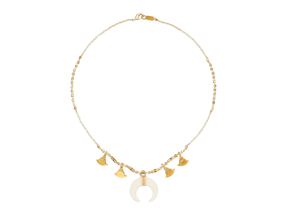 Chan Luu - 17 Short Horn Necklace (White Mix) Necklace