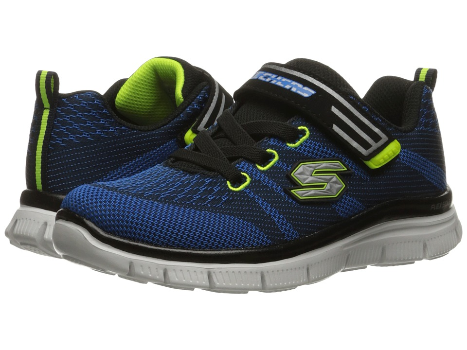 SKECHERS KIDS - Flex Advantage - Master Mind 95523L (Little Kid/Big Kid) (Navy/Blue/Lime) Boy's Shoes