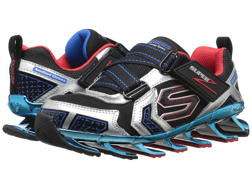 SKECHERS KIDS - Mega Blade 2.0 - Chrome Z 95575L (Little Kid/Big Kid) (Silver/Black) Boy's Shoes