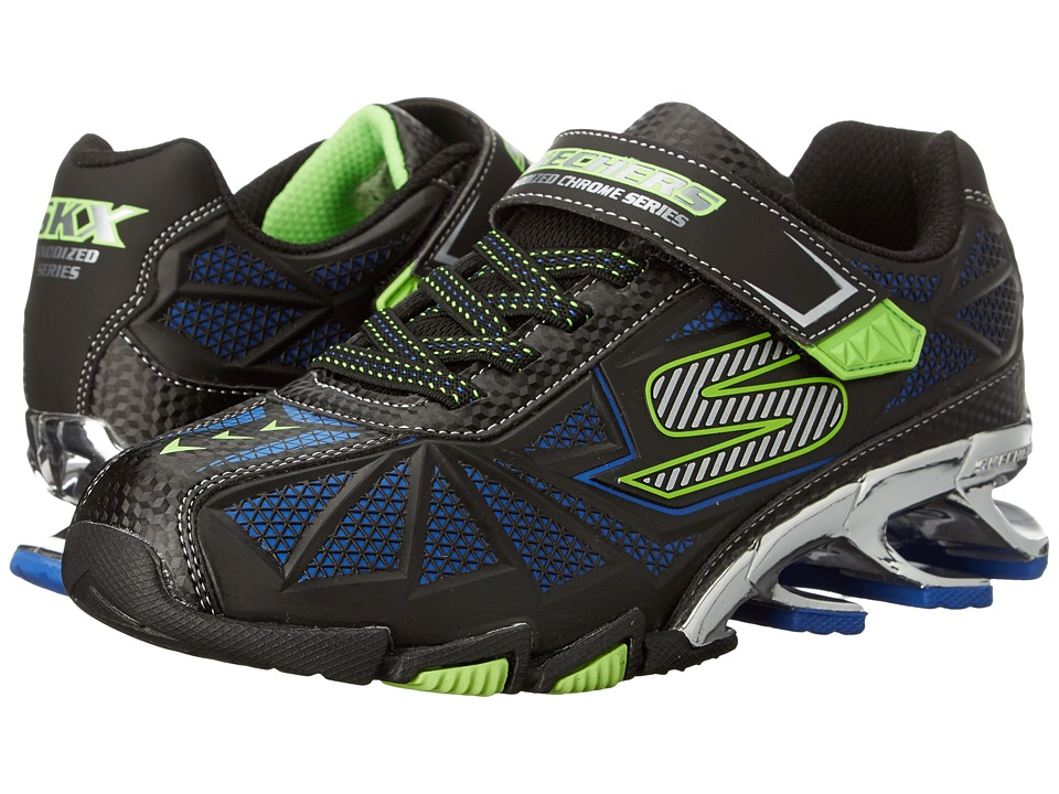 SKECHERS KIDS - Mega Flex 2.5 95582L (Little Kid/Big Kid) (Black/Lime) Boy's Shoes
