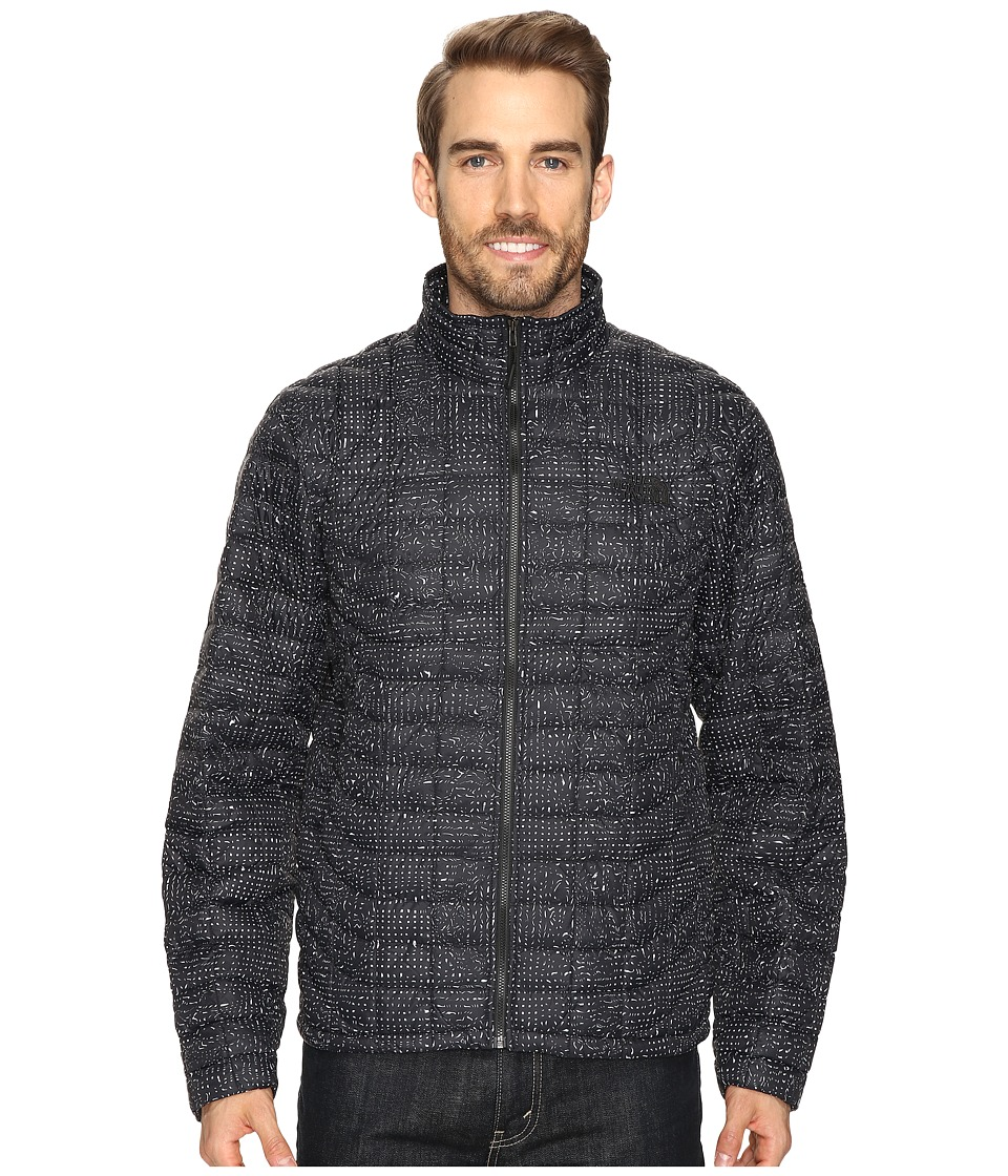 The North Face - ThermoBall Full Zip Jacket (TNF Black Morpheus Print) Men's Coat