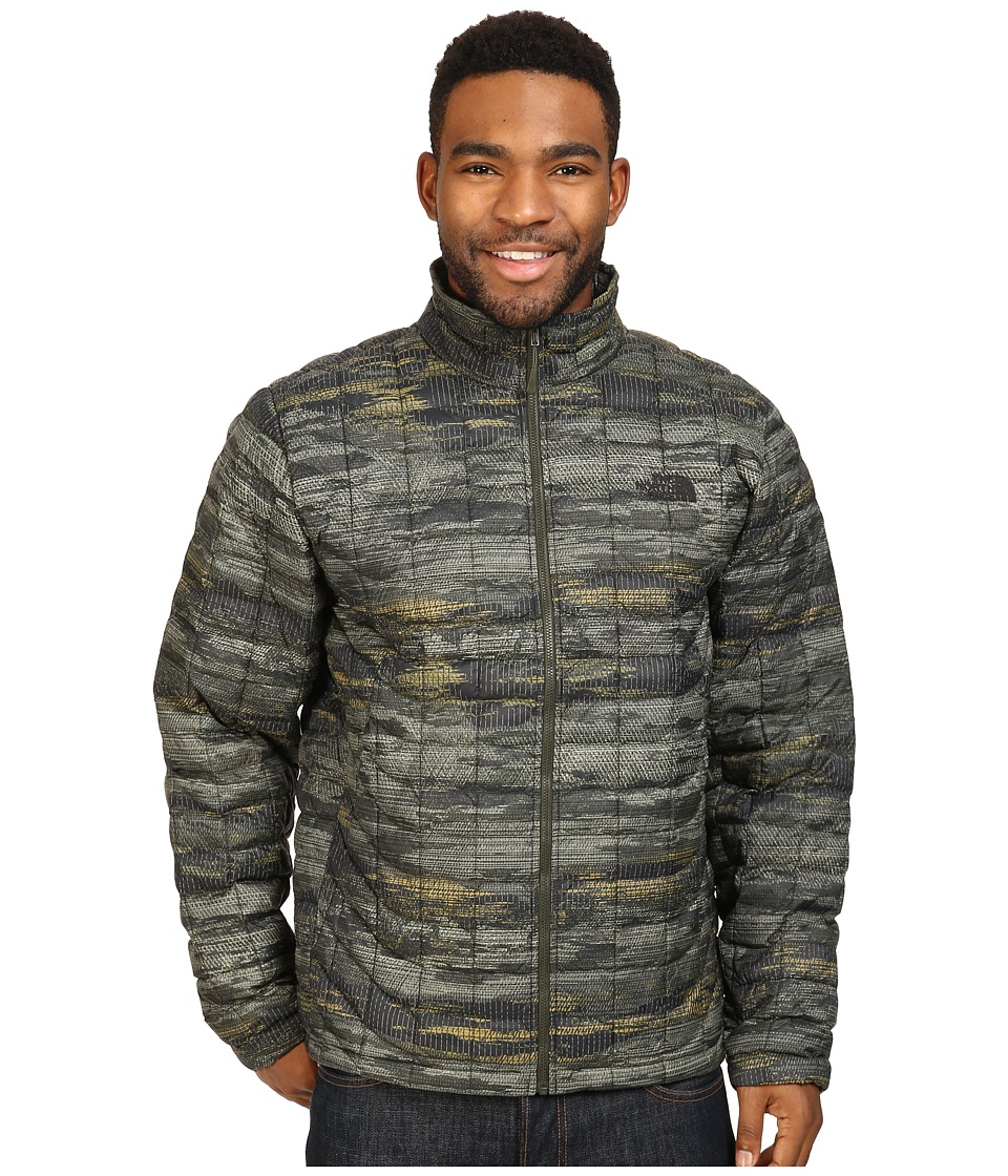 The North Face - ThermoBall Full Zip Jacket (Rosin Green Glamo Print) Men's Coat