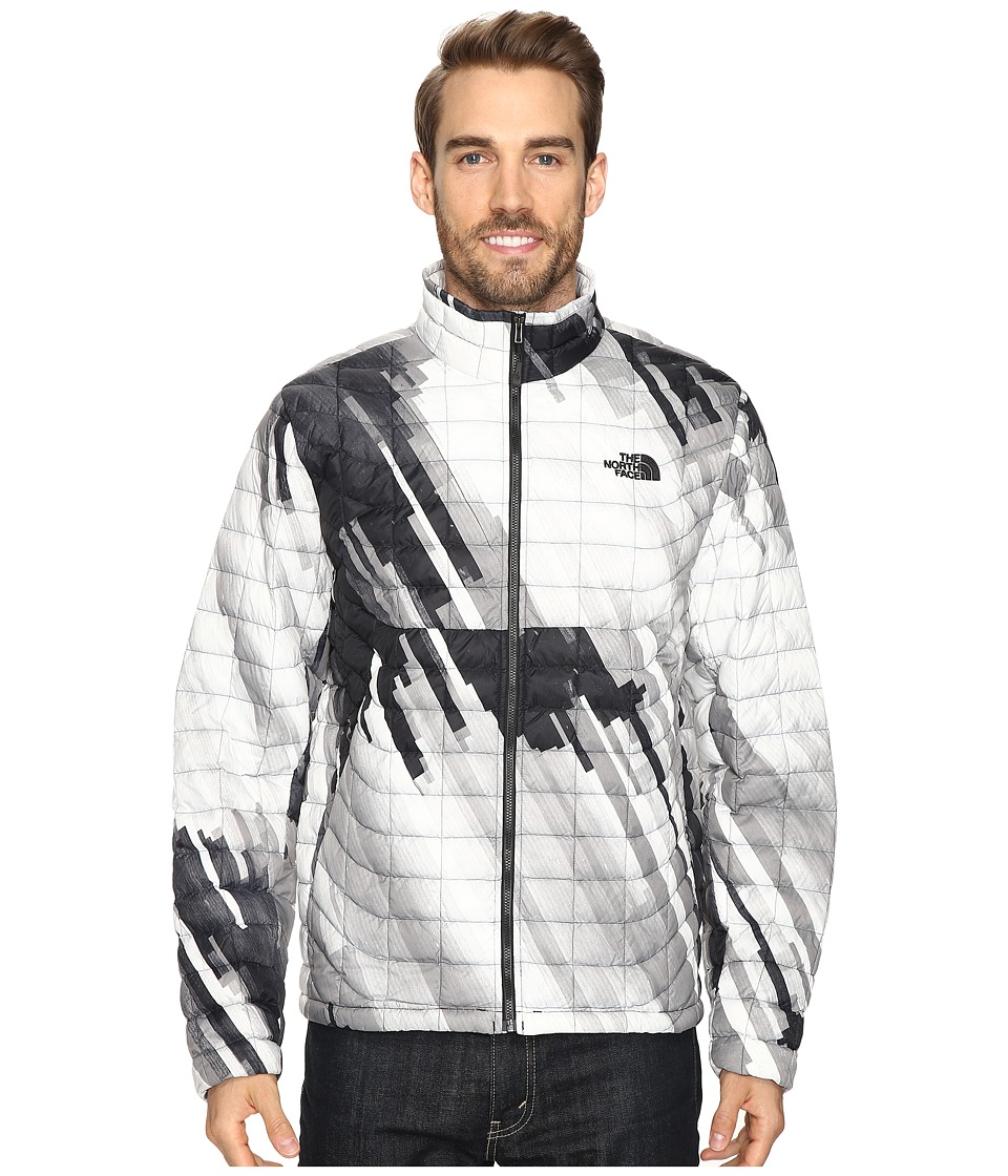 The North Face - ThermoBall Full Zip Jacket (TNF Black Strata Print) Men's Coat