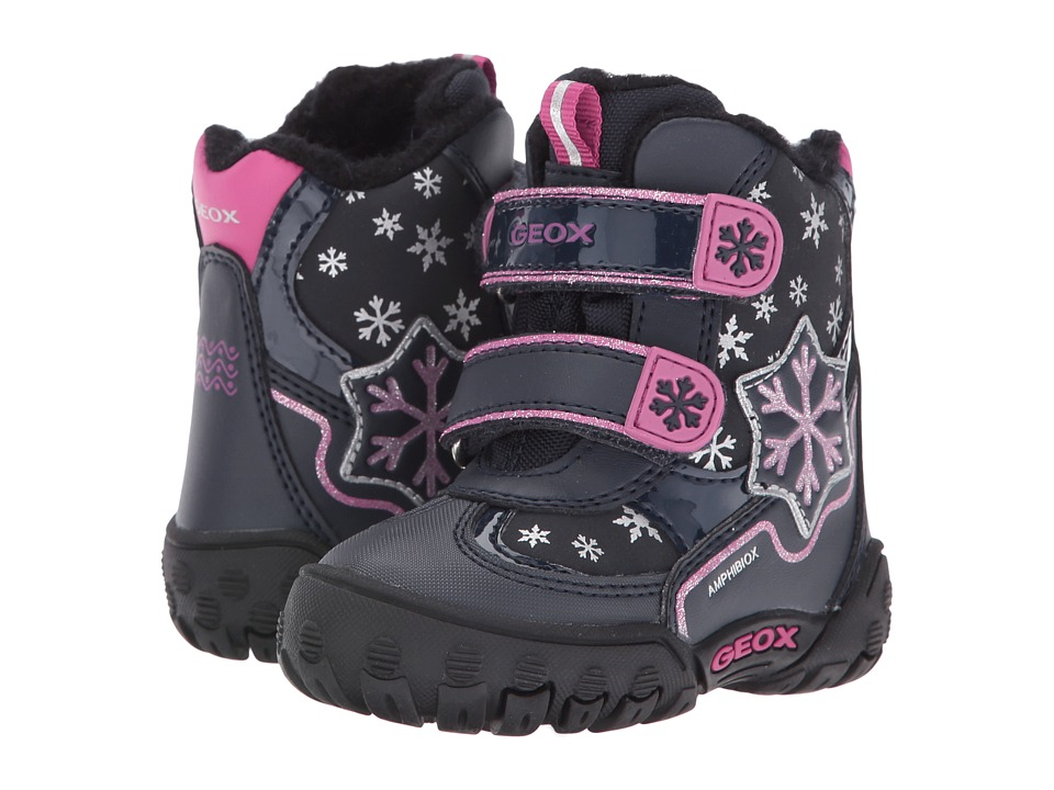 Geox Kids - Baby Gulp B Girl ABX 6 Waterproof (Toddler) (Navy) Girl's Shoes