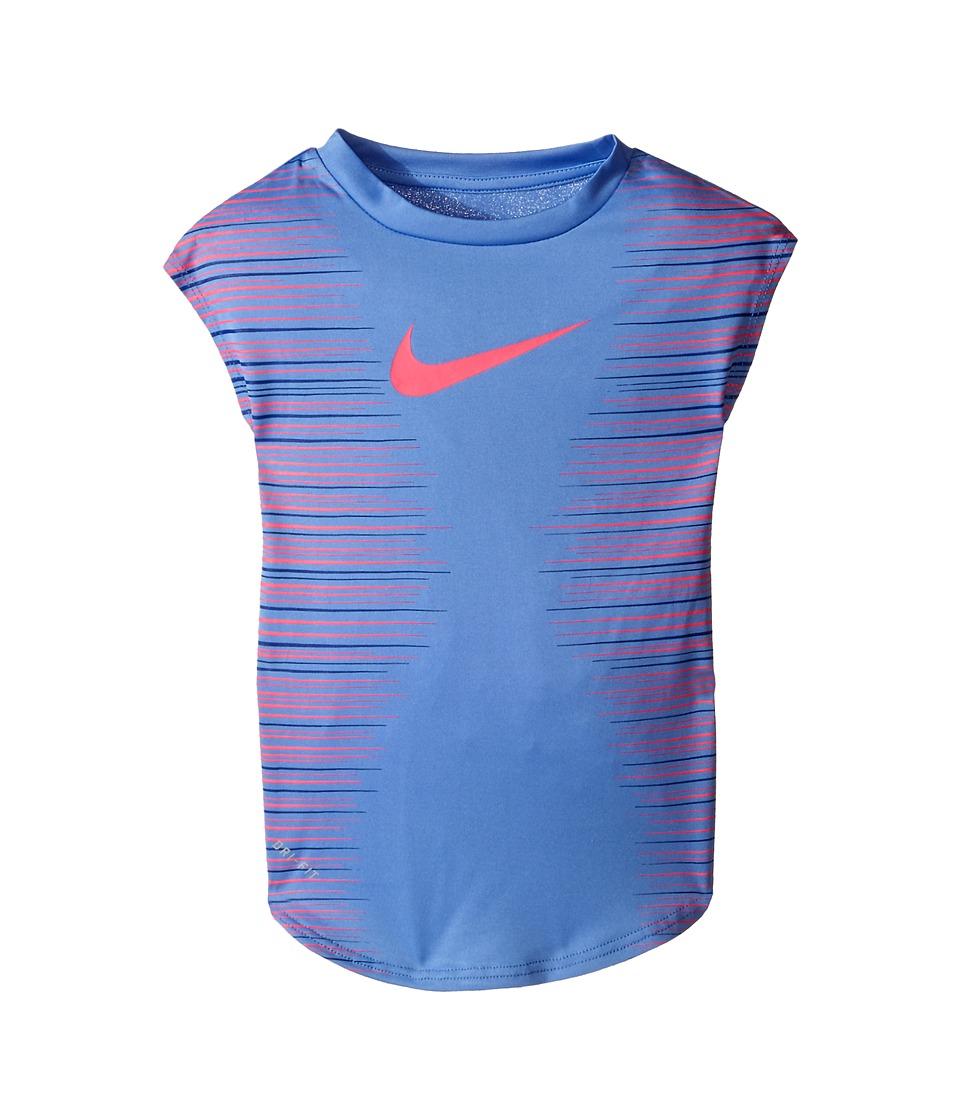 Nike Kids - KTA882 Dri-FIT Tee (Toddler) (Chalk Blue) Girl's Short Sleeve Pullover