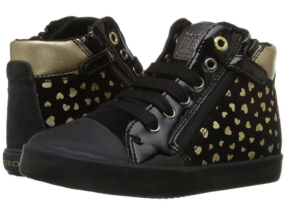Geox Kids - Baby Kiwi Girl 77 (Toddler) (Black/Gold) Girl's Shoes