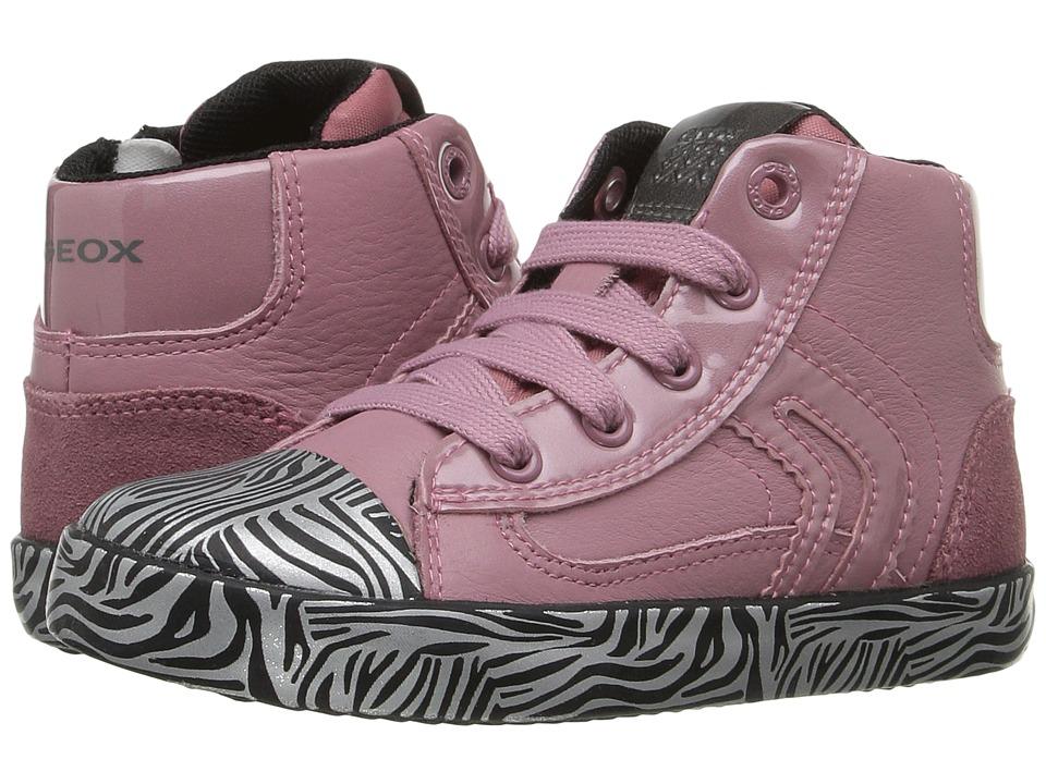 Geox Kids - Baby Kiwi Girl 76 (Toddler) (Pink/Black) Girl's Shoes