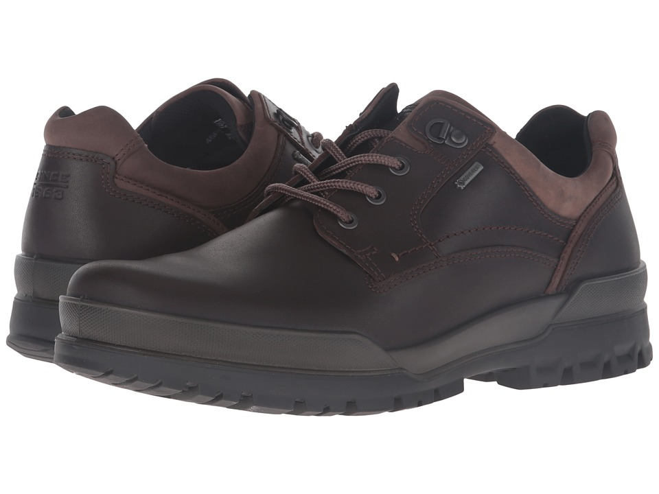 ECCO Track 6 GTX Plain Toe Tie (Coffee) Men